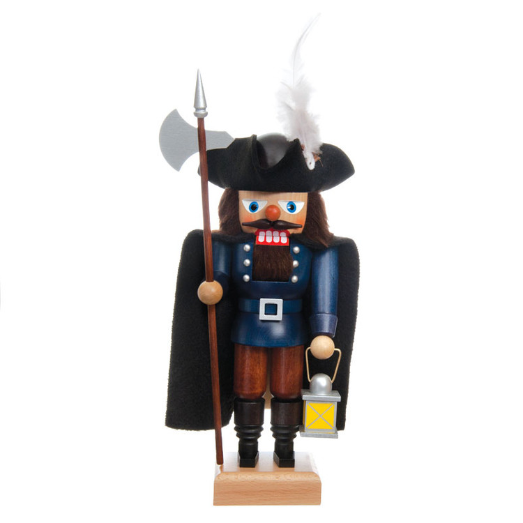 Blue Night Watchman Stands Guard Nutcracker