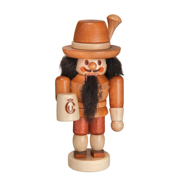 Natural Bavarian Nutcracker with Mug Nutcracker