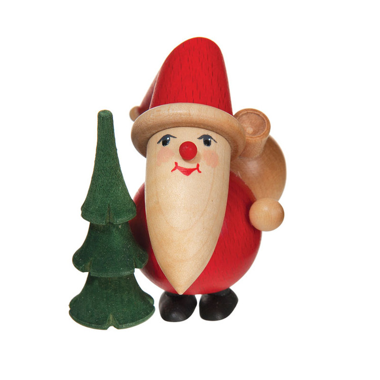 Round Santa with Tree Figure
