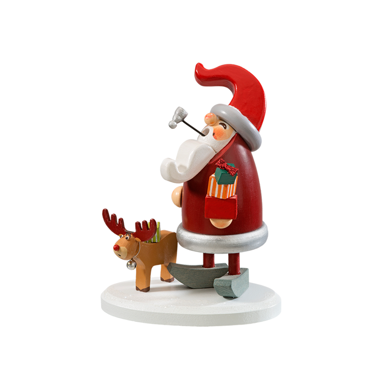 Red Elf Smoker with Reindeer Smoker