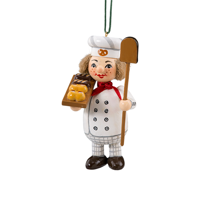 Holzbuddy Baker with Bread Wood Ornament