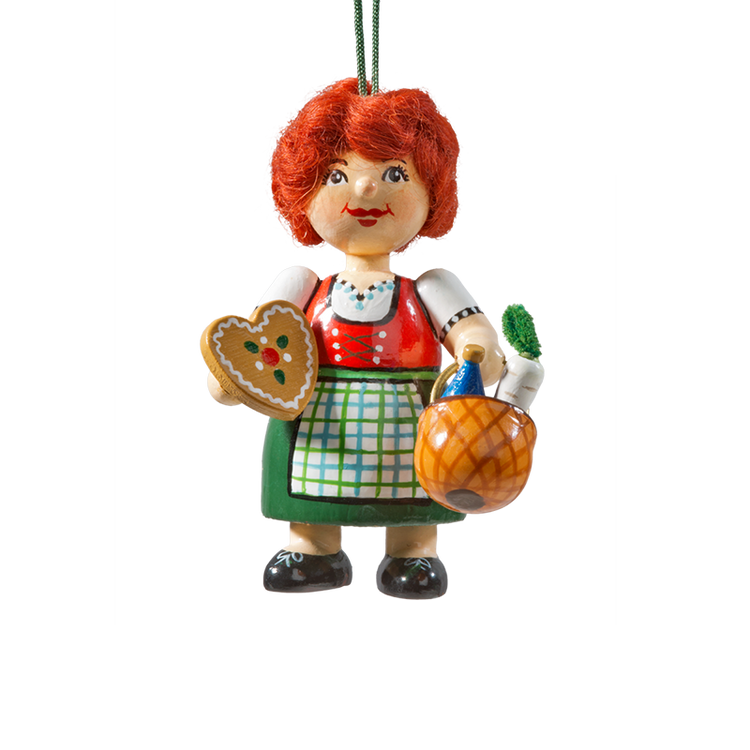 Holzbuddy Bavarian Girl Wood Ornament