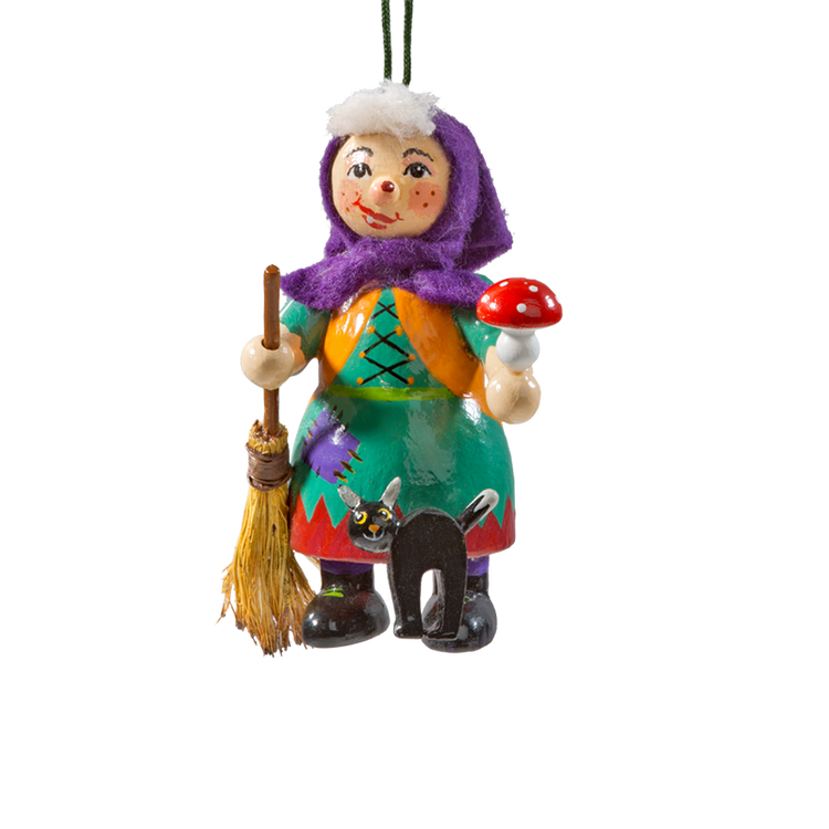 Holzbuddy Witch Wood Ornament