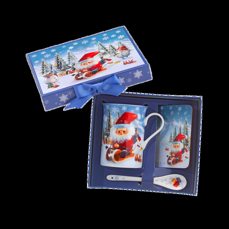 Santa Cup and Coaster Set