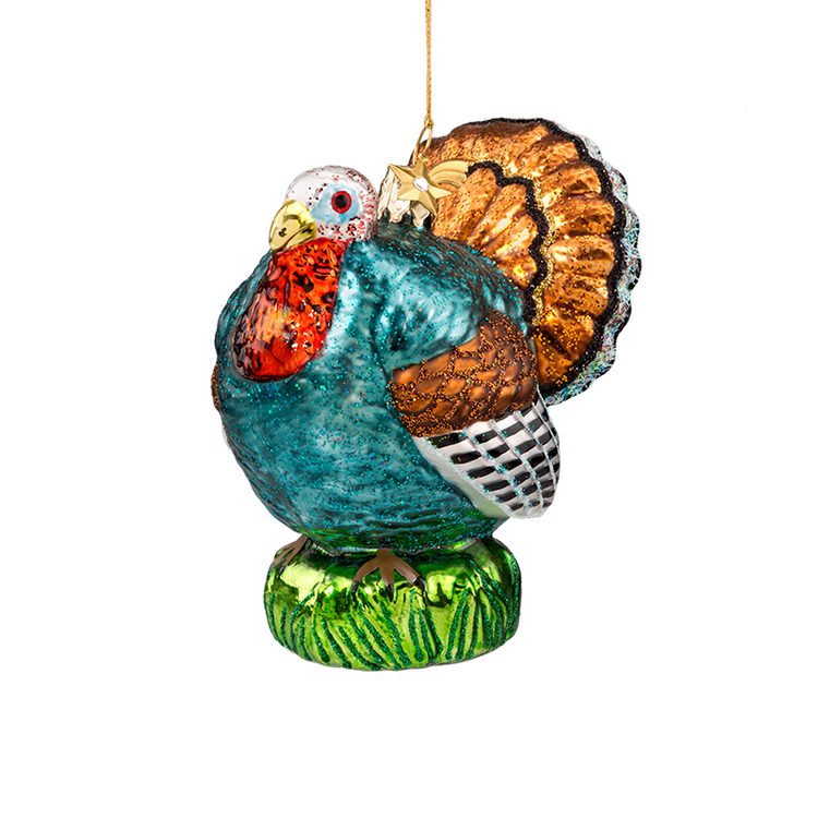 Animal Series Turkey Glass Ornament