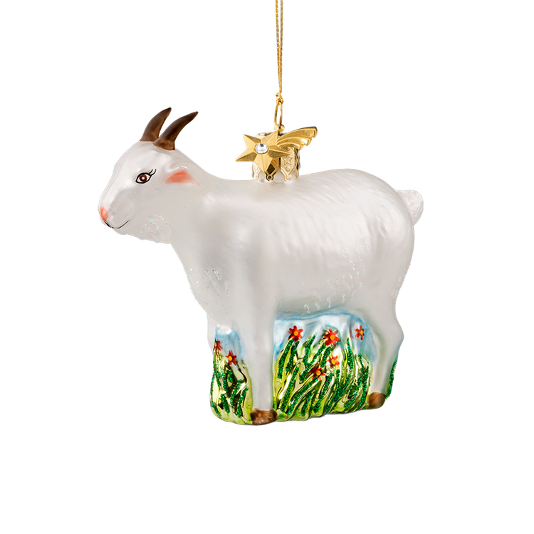 Animal Series Goat Glass Ornament
