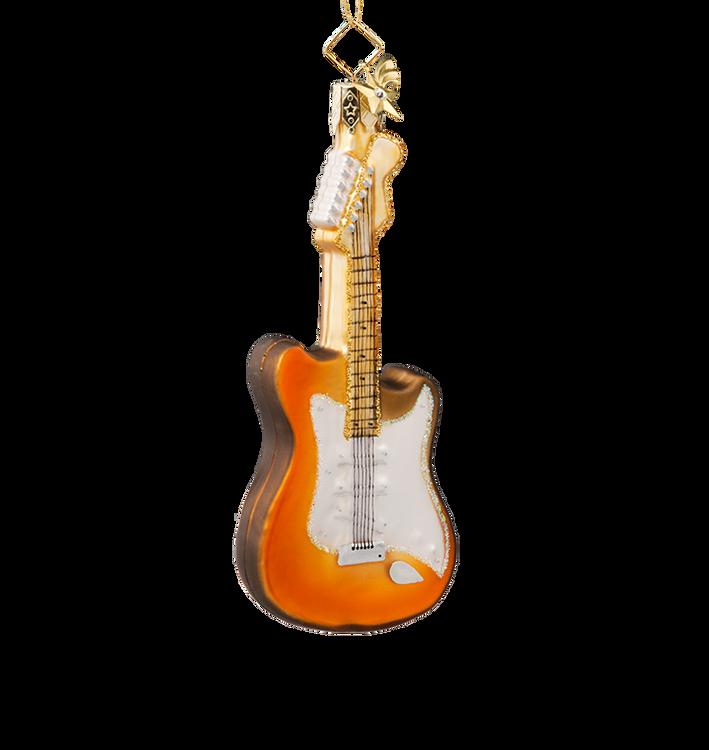 Electric Guitar Glass Ornament
