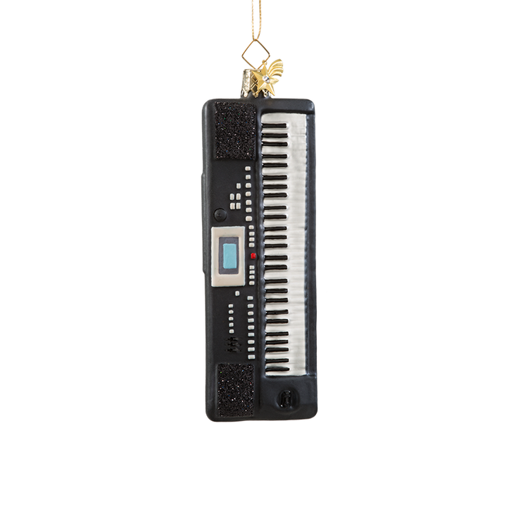 Keyboards Glass Ornament