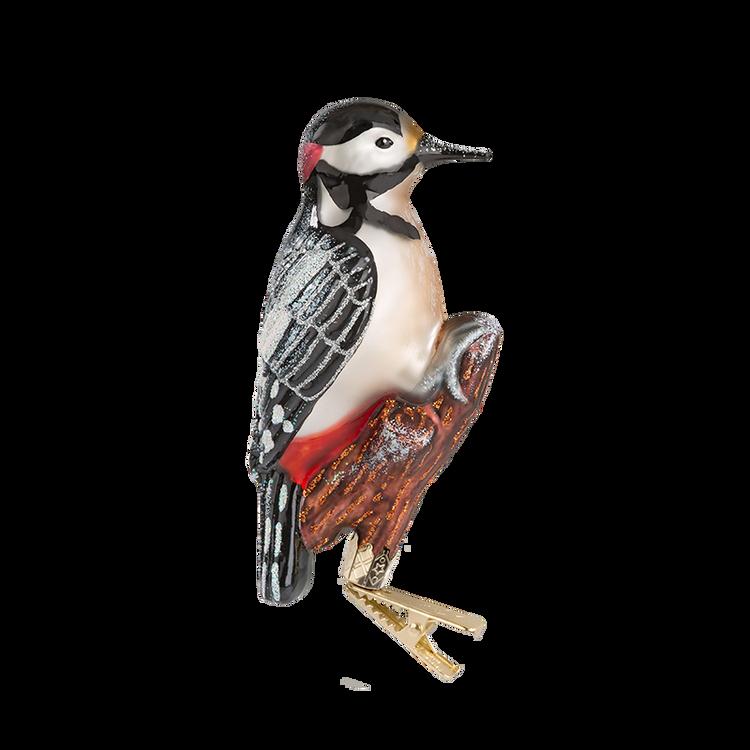 Woodpecker Glass Ornament