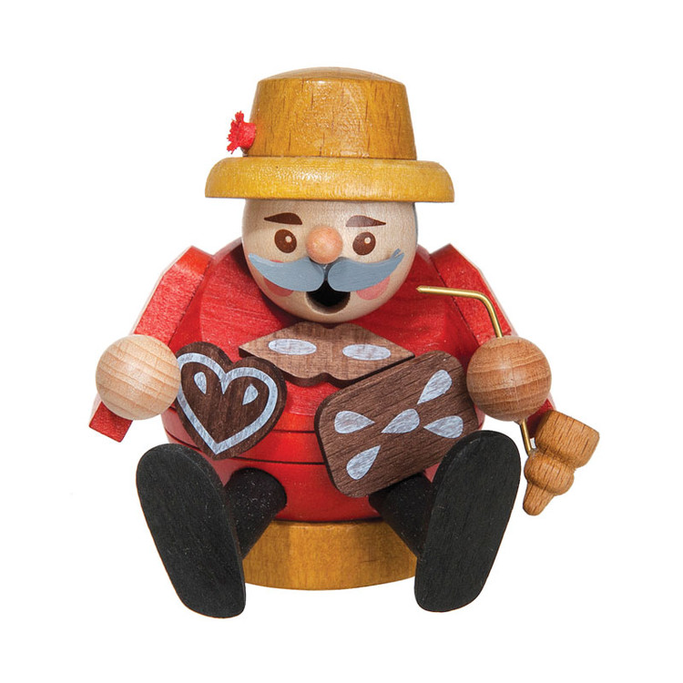 Sitting Round Gingerbread Seller Smoker