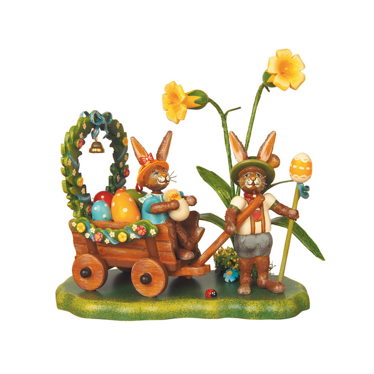 Bunnies on Spring Meadow Figurine