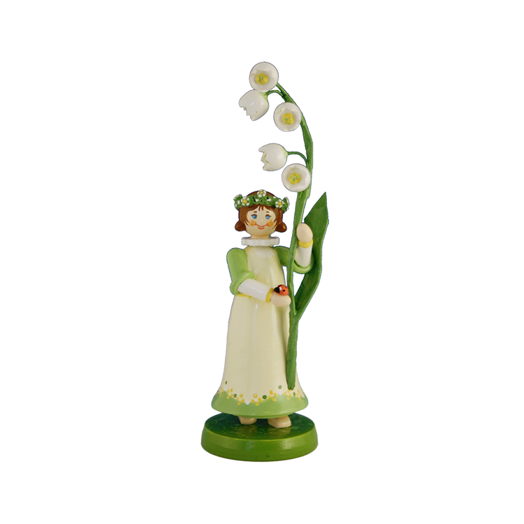 Wood Flowerchild Lilly of the Valley Figurine