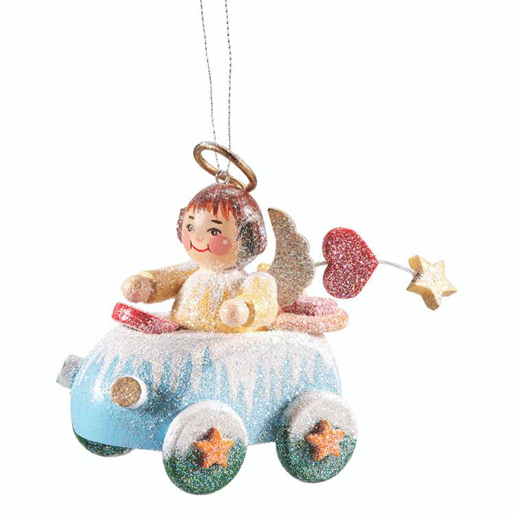 Frosty Car with Angel