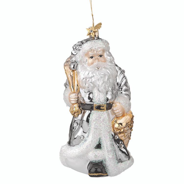 Silver and Gold Santa