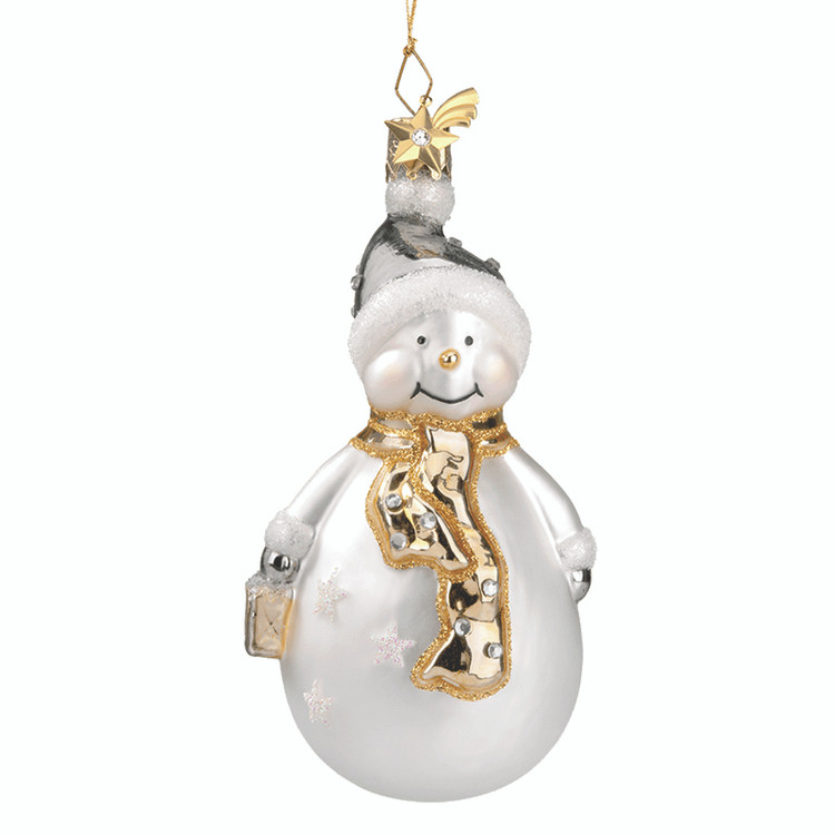 Silver and Gold Snowman