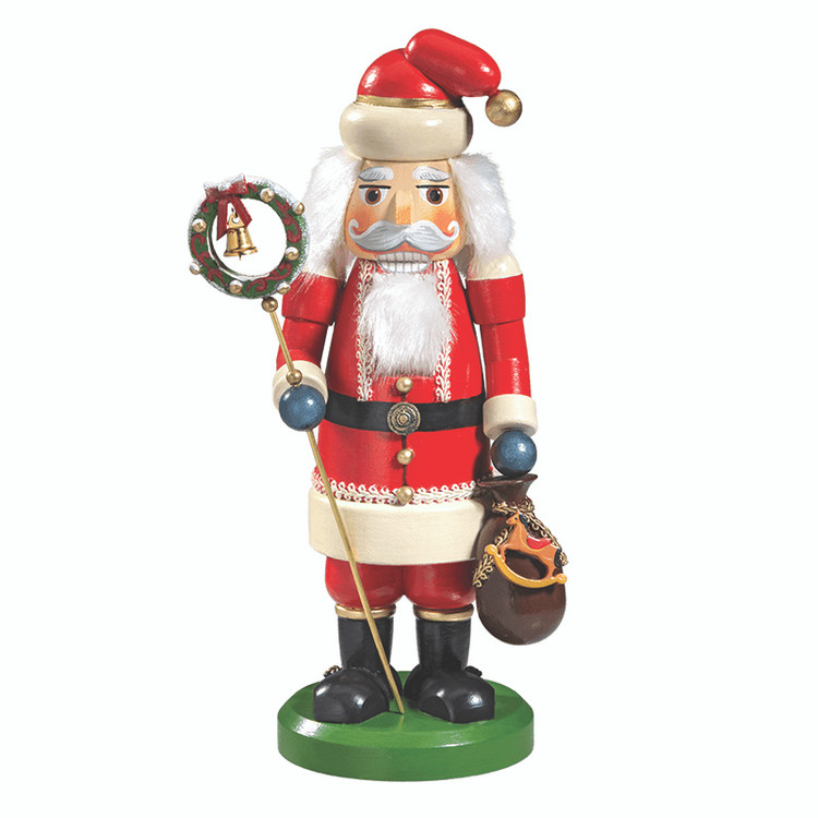Knackl Santa with Wreath