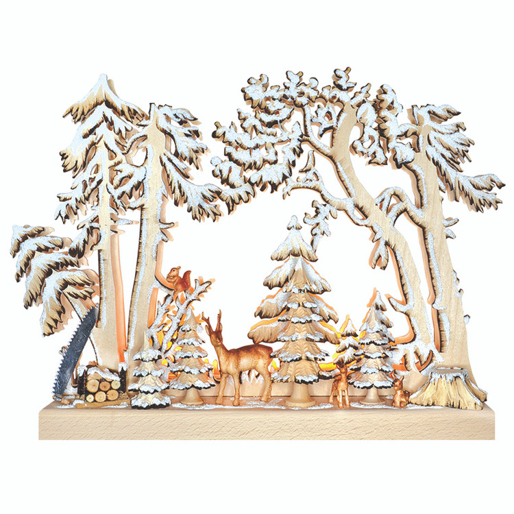 Snowy Forest Animals