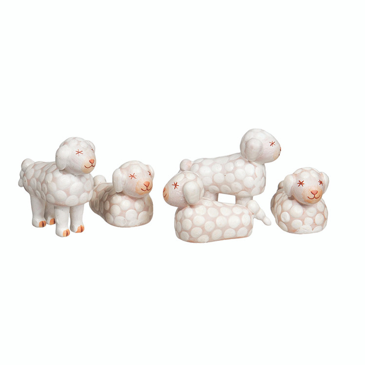 Set of 5 Sheep
