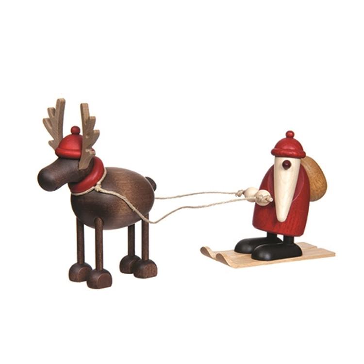 Skiing by Reindeer