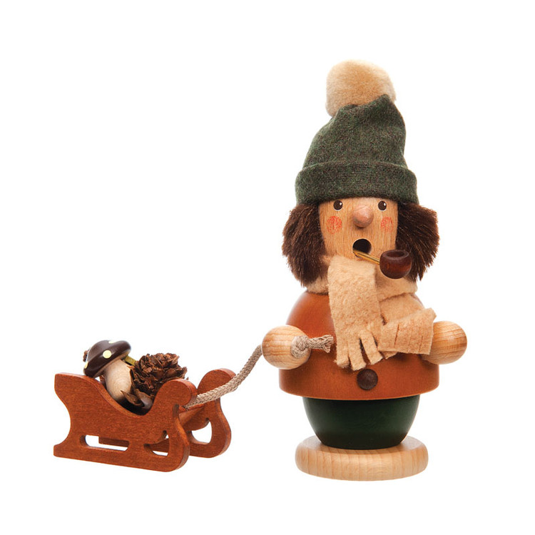 Boy with Sled Incense Smoker