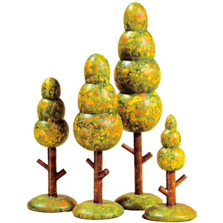 Fall Trees (set of 4)