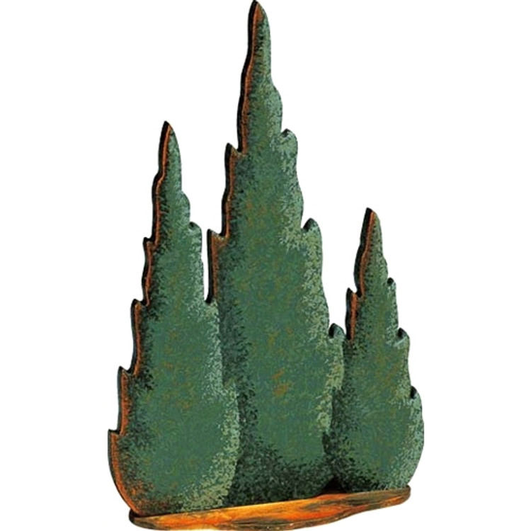 Cypress Trees (3 on one base)