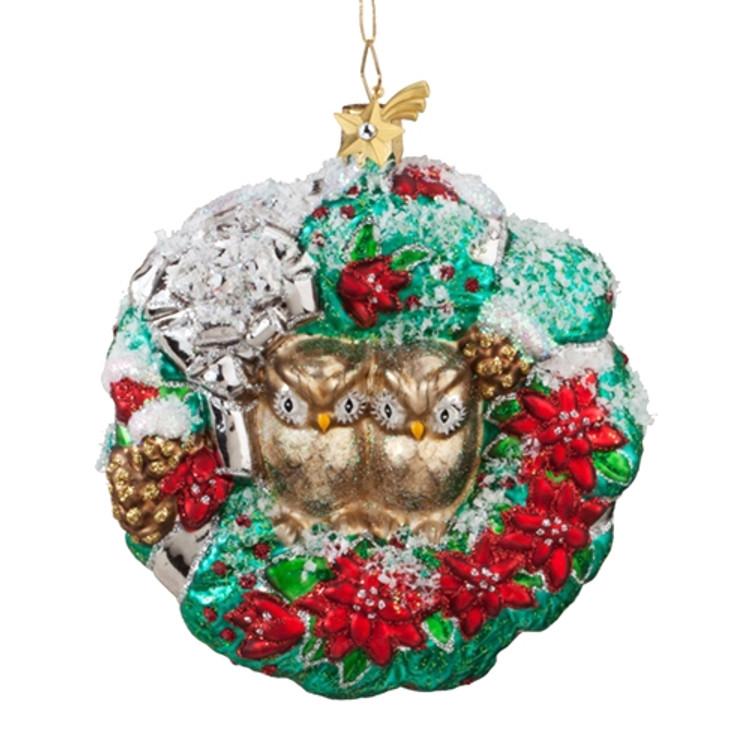 Owls in Wreath