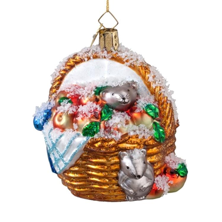 Snowy Apple Basket