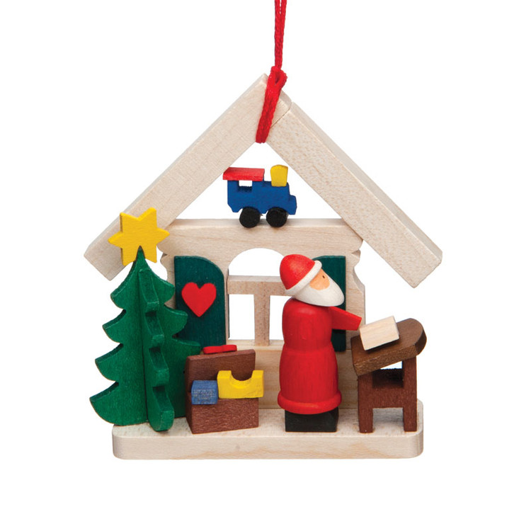Santa Writing List Wood Ornament