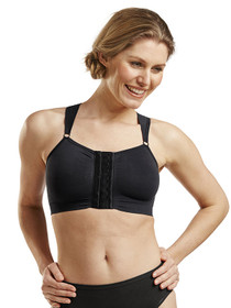 Bella Post-Op Bra - Front - Black