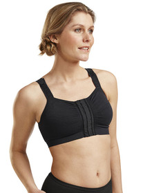 Mary Mastectomy Bra (Hook & Eye) - Front - Black
