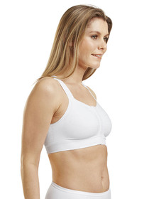 Mary Mastectomy Bra (Hook & Eye) - Side - White