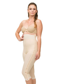 Isavela Stage 1 High Waisted Abdominal Girdle with Separating Zippers - Below Knee