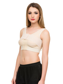 "Isavela Compression Support Bra with 2"" Elastic Band and 3"" Stabilizer Band"