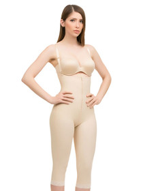 Body Suit Below Knee W/Suspender Buttocks Enhancing Compression Girdle W/Zipper