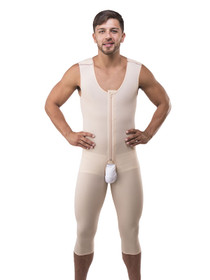 Male Compression Body Suit - No Sleeves - Below Knee