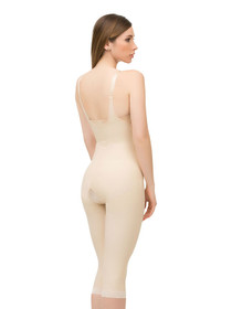 Body Suit Below Knee W/ Suspenders Closed Buttocks Enhancing Compression Girdle