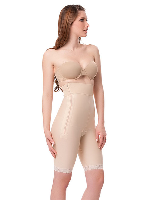 Stage 1 High Waisted Abdominal Girdle - Mid-Thigh (GR03)