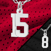 """""""Pretty Sporty"""" number charms"""