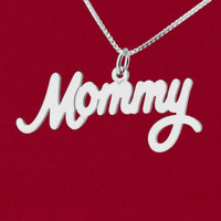 """Large """"Mommy"""" name charm"""