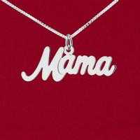 """Mama"" Cursive Word Name Charm"