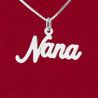 """Nana"" Cursive Word Name Charm"