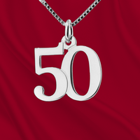Sterling Number 50 Charm