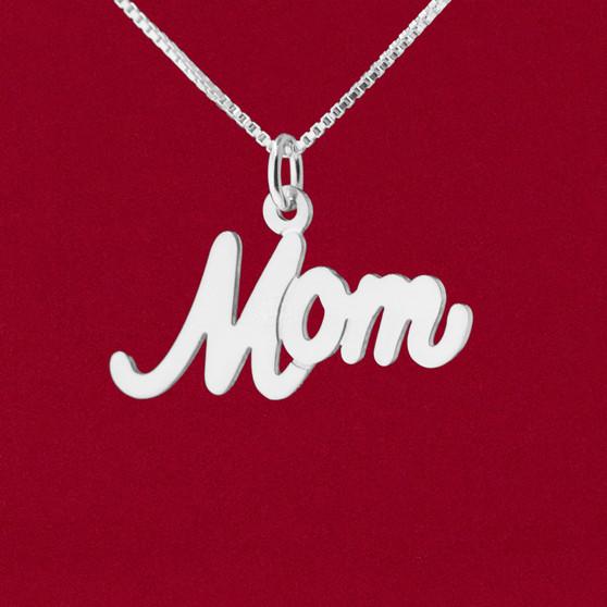 """Mom"" Cursive Word Name Charm"