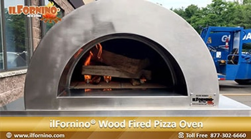 Making Pizza in ilFornino Elite Plus Series Wood Fired Oven