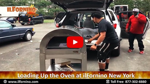 Happy Customer | Loading of ilFornino Wood Fired Oven