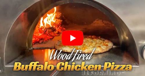 Buffalo Chicken Pizza in Wood Fired Oven - Recipe by ilFornino