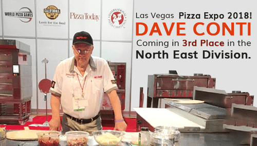 Las Vegas Pizza Expo 2018! Dave Conti coming in 3rd Place in the NorthEast Division
