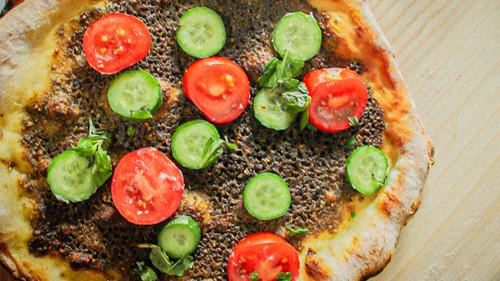 Zaatar Pizza - Mediterranean Flatbread