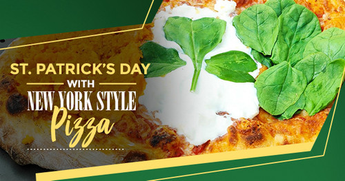 Celebrating St. Patrick's Day with a New York Style Pizza in ilFornino Oven